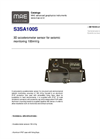 MAE - Model S3SA100S - 3D Accelerometer Sensor for Seismic Monitoring 100mV/g - Datasheet