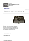 MAE - Model S1SA1S - 1D Accelerometer Sensor for Seismic Monitoring 100mV/g - Datasheet