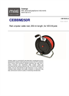 MAE - Model CEBBM250R - Red Unipolar Cable Reel - Datasheet