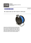MAE - Model CEBBM500B - Blue Unipolar Cable Reel - Datasheet