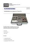 MAE - Model Kcronosonic - Kit for Detection of Time of Fly - Datasheet