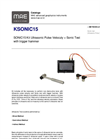 Model KSONIC15 - Kit Ultrasonic Pulse Velocuty - Sonic Test with Trigger Hammer - Datasheet