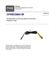 Model CFRBCSMA1M - Accelerometer Connecting Cable for Resonance Frequency Meter - Datasheet