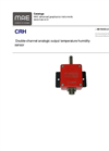 MAE - Model CRH - Double-Channel Analogic Output Temperature Humidity Sensor - Datasheet