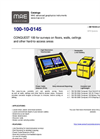 Model 100-10-0145 - Portable Unit for Surveys on Floors, Walls, Ceilings - Datasheet