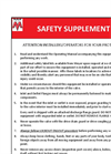 Safety Supplement - Datasheet
