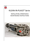 Klean-In-Place Series - Installation, Operation & Maintenance Instructions - Manual