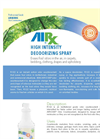 AirxLabs - Model RX 22 - High Intensity Odor Counteractant Spray - Brochure