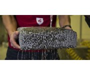 Recycled Carbon Fiber Strengthens Pervious Concrete