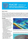 FLAC3D - Version 6.0 - Numerical Modeling Software Brochure