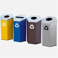 Gomate - Model GMT-401 - Four Compartment Stainless Steel Dustbin