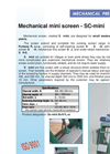Model SC-mini - Mechanical Mini Screens- Brochure