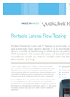 QuickChek Reader Portable Lateral Flow Testing Brochure