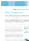 Membrane Brine Concentration - Brochure