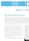 Modern Water - Model OVA7000 - On-line Metal Monitor Brochure