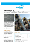 Aqua Guard - Model PF - Perforated Plate Media Channel Screen Brochure