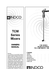 Indco - Model TCM-2-150A-D - Tri-Clamp Mount Mixer with Dual Propeller Brochure