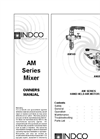 Indco - Model AM200-B - 1-1/2 HP Air Handheld Mixer Brochure