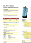 Weda Pump - Model RL 4140 - Submersible Drainage Pump Brochure