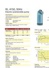 Weda Pump - Model RL 4150 - Submersible Drainage Pump Brochure