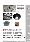 Ztechnique Spare Parts for Atlas Copco Oil Free Compressors Brochure