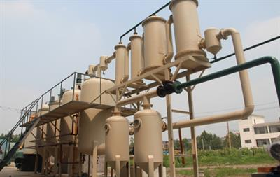 Plastic Pyrolysis Oil Distillation Machine