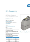 ACE Brush - De Waterer Fine Screening System Brochure
