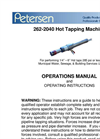 262-2040 Pneumatic Duty Tapper Operations Manual