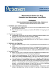 154-Series Gas Plugs Operating Procedures - Catalog