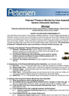 Petersen® Pressure Monitoring Valve Assembly Generic Instruction Summary