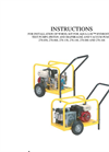 938-93 Series 9.5 GPM Hydrostatic Test Pump Wheel Kit Installation Instructions - Catalog