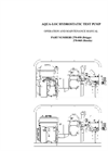938-93 Series 9.5 GPM Hydrostatic Test Pump Honda Engine and Briggs and Stratton Engine Operating Instructions - Catalog