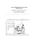 938-93 Series Piston Style Hydrostatic Test Pump Honda Engine Operating Instructions - Catalog