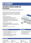 Model DPT-R8 - Field Adjustable Multi Range Differential Pressure Transmitters for Air Brochure