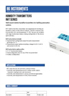 HK Instruments - Model RHT - Wall Mounted Humidity Transmitters Brochure