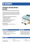 HK Instruments - Model DPI - Electronic Differential Pressure Switch Brochure