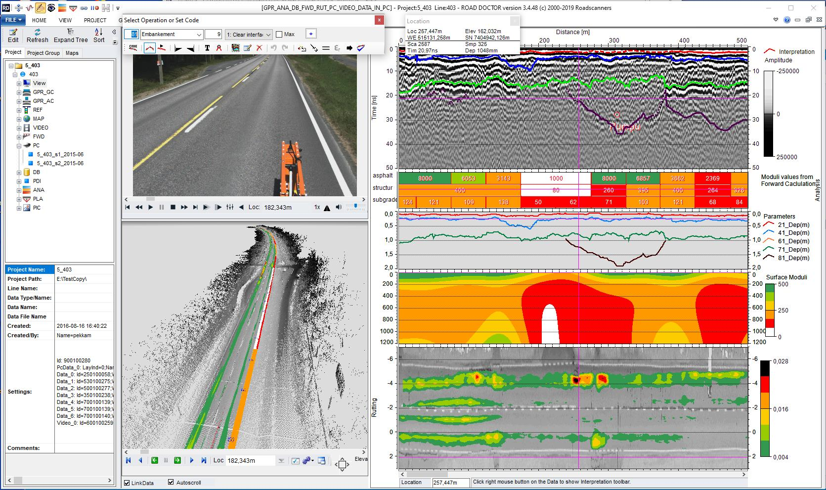 Surface and Sub-Surface Data Analysis Software, GPR-1
