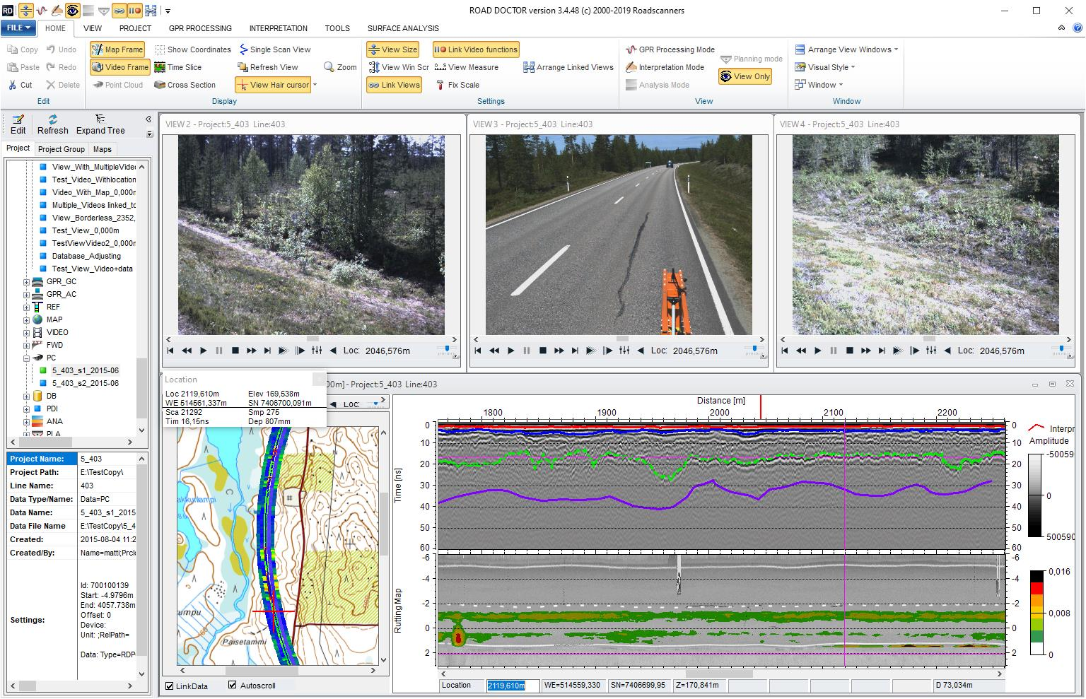 Surface and Sub-Surface Data Analysis Software, GPR-2