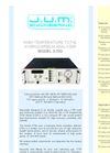 Model 3-700 - High Temperature Total Hydrocarbon Analyzer Brochure