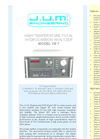 Model VE7 - High Temperature Total Hydrocarbon Analyzer Brochure