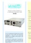 H100 - Trace Hydrocarbon In Hydrogen FID-Analyzer Brochure