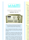 Model VE 572 - Sequencing 2-Channel, Heated Total Hydrocarbon Analyzer Brochure
