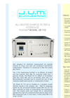 PreFilter - Model VE 112 - All Heated Sample Filter & Interface - Brochure