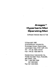 Anagas - Hyperbaric Monitor Operating Manual