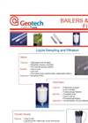 Bailers, Filters and Vessels for Sampling and Filtering - Datasheet