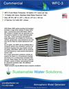 Model WFC-3 - Atmospheric Water Generator Brochure