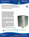 GR8 Water - Model WFC-25 - Atmospheric Water Generator - Datasheet