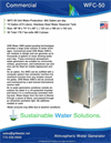 GR8 Water - Model WFC-50 - Atmospheric Water Generator - Datasheet
