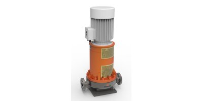 Rodelta - Model ETLS (OH3) - Vertically Inline Mounted, Flexible Coupled, Radial Split Case, Single Stage, Single Suction, Heavy Duty Centrifugal Process Pumps