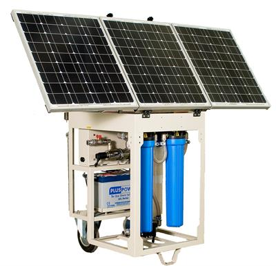 Tecimer - Model MWF900SF - Mobile Solar Water Filtration Unit